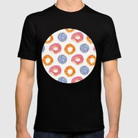 Sweet Things: Doughnuts Mens Fitted Tee Black SMALL