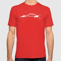 1980 Porsche 930 Turbo Mens Fitted Tee Red SMALL
