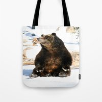 Chillin' Bear Tote Bag