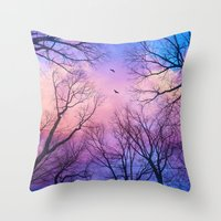 Throw Pillow featuring A New Day Will Dawn  (Day Tree Silhouettes) by soaring anchor designs