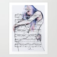 Waiting Place On Music S… Art Print