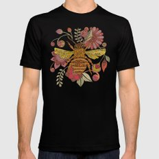 Bee awesome Black Mens Fitted Tee SMALL