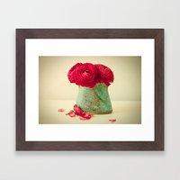 Red Petals Framed Art Print