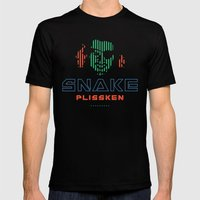 Snake Plissken Mens Fitted Tee Black SMALL