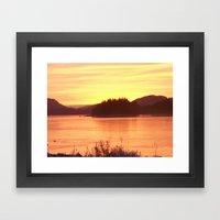 Frozen Sunset 2 - Gold Framed Art Print