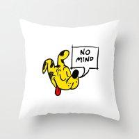No Mind Throw Pillow