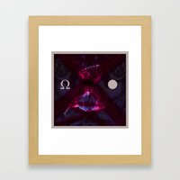Seeing Something Between Everything and Nothing Framed Art Print