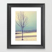 Okanagan Winter Blues Framed Art Print