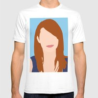 Emma Stone Digital Portr… Mens Fitted Tee White SMALL