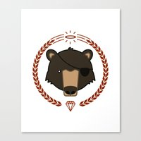 Mr. Bear Canvas Print