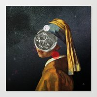 Look into the deep night Canvas Print