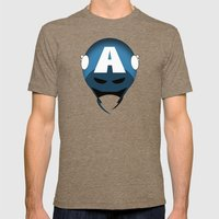 The Cowl: Captain America Mens Fitted Tee Tri-Coffee SMALL