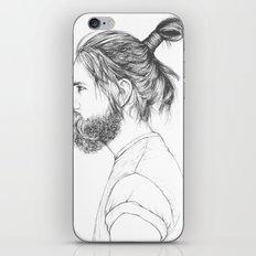 Beard & Top Knot iPhone & iPod Skin