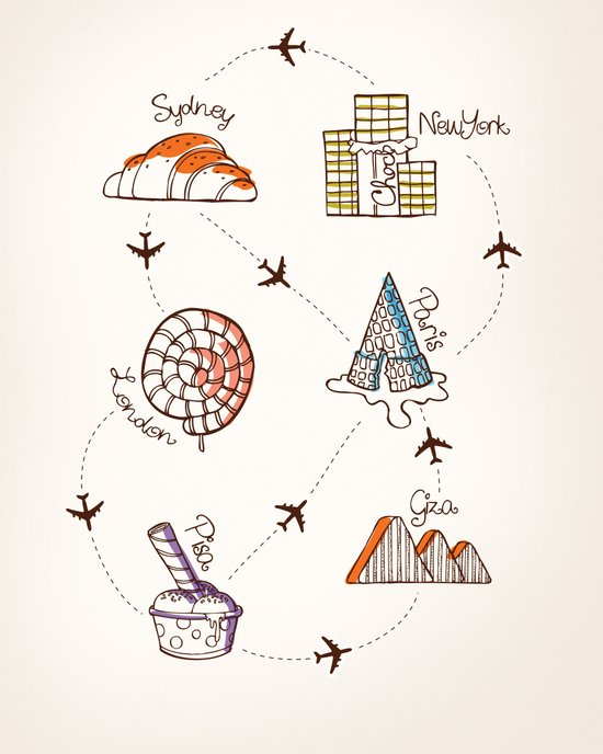 Sweet Travel Art Print