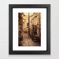 Omodos Cyprus Alley Framed Art Print