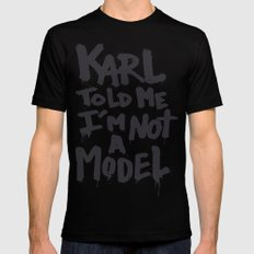 Karl told me... SMALL Mens Fitted Tee Black