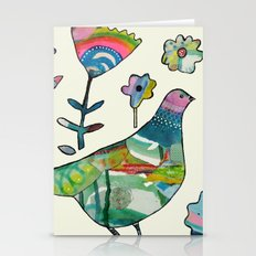 dove in the garden Stationery Cards