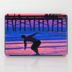 Neon Skimboarder iPad Case