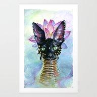 Cat Goddess Art Print