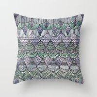 Watercolour Pattern1 Throw Pillow