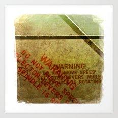 warning Art Print