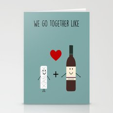We Go Together Like  Stationery Cards