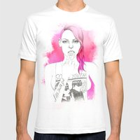Little Trouble Girl Mens Fitted Tee White SMALL
