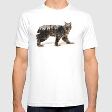 Arctic Lynx SMALL White Mens Fitted Tee