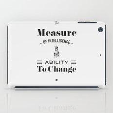 Einstein Quote, words of wisdom iPad Case