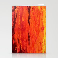 Abstract Fire Drip Painting Stationery Cards