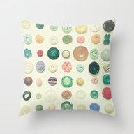 The Button Collection Throw Pillow