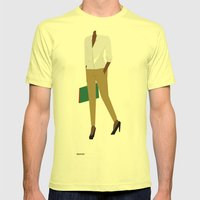 White Shirt A Mens Fitted Tee Lemon SMALL