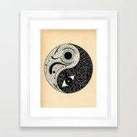 - yin & yang - [collaborative art with famenxt] Framed Art Print