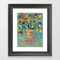 Junk Mail Flowers Framed Art Print