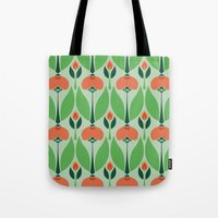 Nouveau Chrysanth Rose Tote Bag