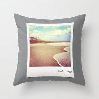 Bali beach 1983 Throw Pillow