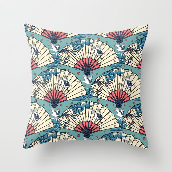 Oriental FanTasy Throw Pillow
