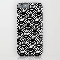 Waves All Over - White O… iPhone 6 Slim Case