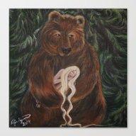 Bear & Maiden Canvas Print