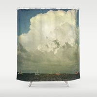 Off to Work We Go Shower Curtain