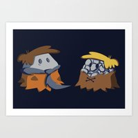 Flint and Rubble Art Print