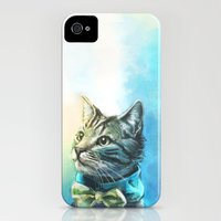 iPhone Cases featuring Handsome Cat by Alice X. Zhang