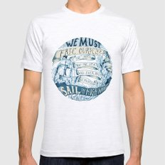Learn to Sail Mens Fitted Tee Ash Grey SMALL