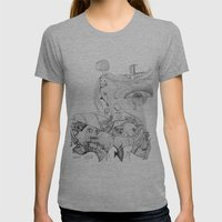Old Woman Womens Fitted Tee Athletic Grey SMALL