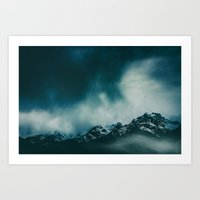 wild peaks Art Print