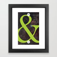 You And Me Framed Art Print
