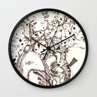 Paper and Pen Wall Clock