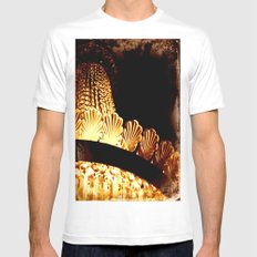 vintage chandelier White SMALL Mens Fitted Tee