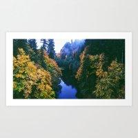River Meets Fall Art Print