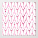 Pink Eiffel Tower Pattern Watercolor Girly Chevron Canvas Print